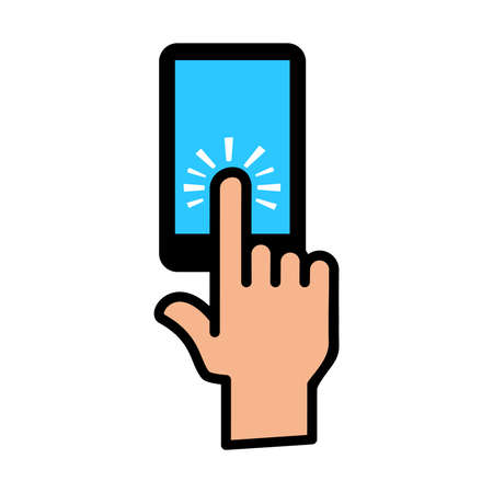 touch: Finger Touch Vector Icon