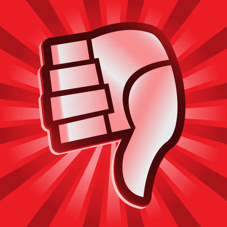 reject: Thumbs Down Vector Icon