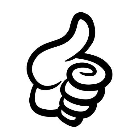 finger up: Thumbs Up Vector Icon