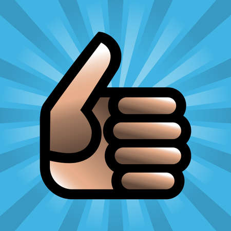 thumbs up: Thumbs Up Vector Icon
