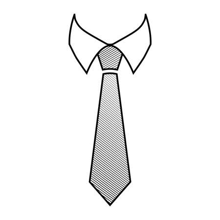 by the collar: Tie Vector Icon Illustration