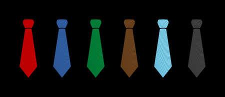 Tie Vector Icon 矢量图像