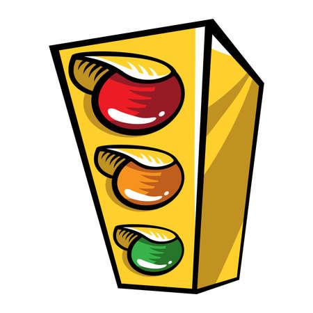 Traffic light cartoon vector icon Stock Illustratie