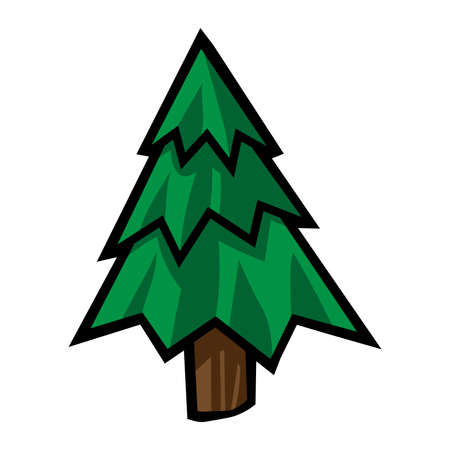 Tree vector icon Illustration
