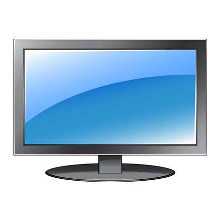 flat screen: Flat screen vector Illustration