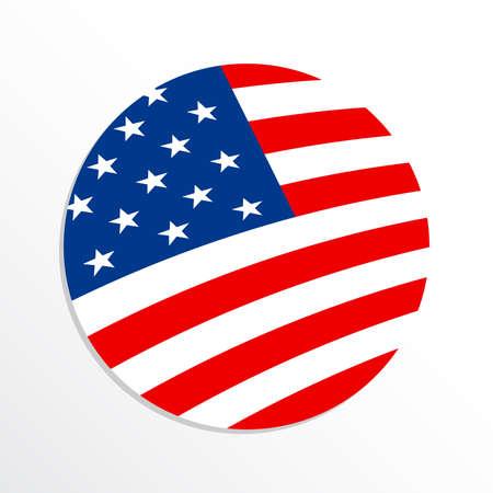 banderas america: Icono de la bandera americana del vector Vectores