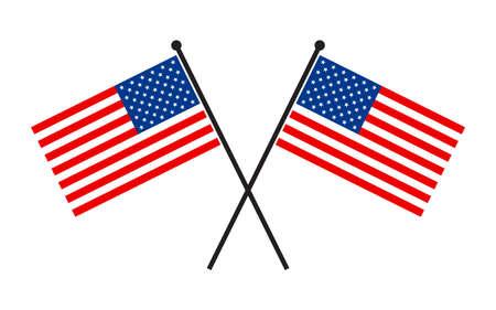 Amerikaanse vlag vector icon Stock Illustratie