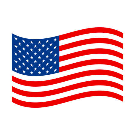 united states flag: American flag vector icon