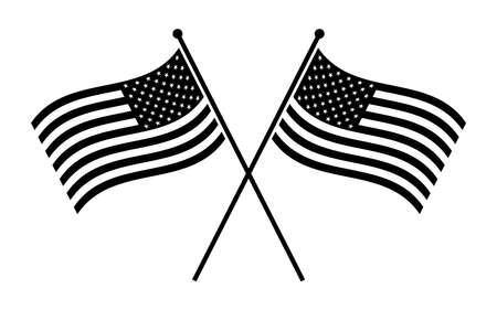 bandera blanca: Icono de la bandera americana del vector Vectores