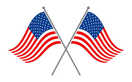 country flags: American flag vector icon