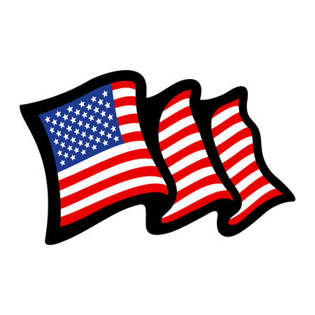flag: American flag vector icon