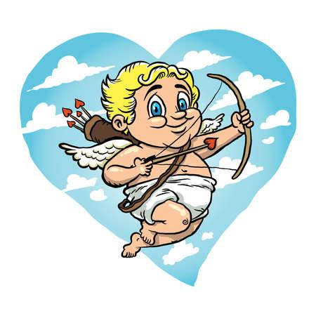 baby angel: Cupido illustrazione vettoriale Vettoriali