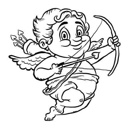 valentine cherub: Cupid vector illustration Illustration