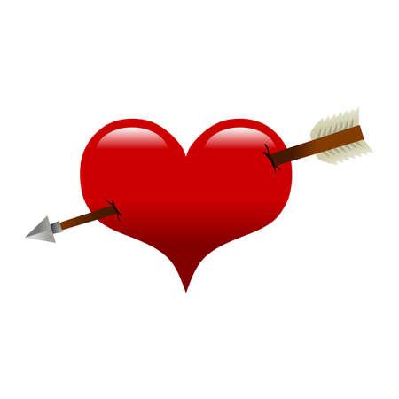 heart arrow: Heart arrow vector illustration Illustration