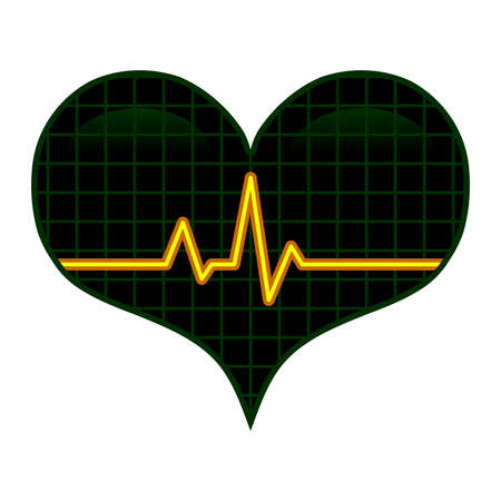 Heart EKG vector illustration