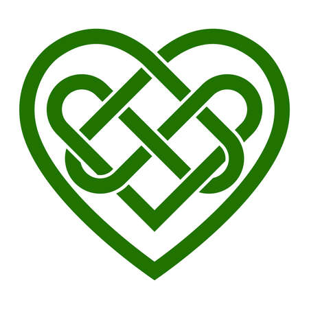 Keltische knoop hart vector illustratie