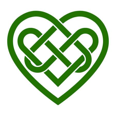 Nudo celta ilustración vectorial corazón Foto de archivo - 49684278