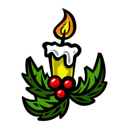 christmas candle: Christmas candle