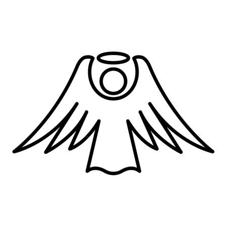 black: Angel Wings Illustration