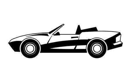 Coche de deportes convertible Foto de archivo - 51883486
