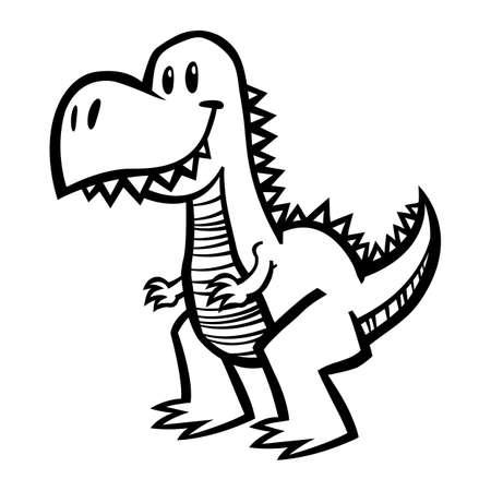 cartoon t rex: Dinosaur T-Rex
