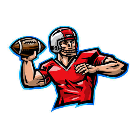 touchdown: Football Quarterback Illustration