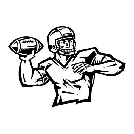 quarterback: Football Quarterback Illustration