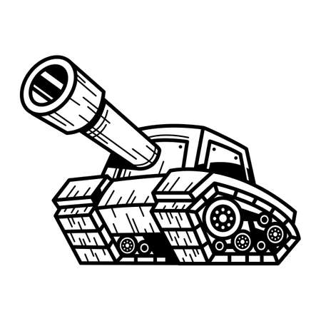 Cartoon Army Tank Illustration