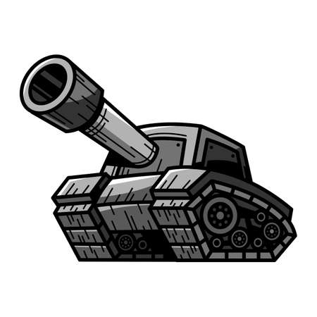 Cartoon Army Tank 일러스트