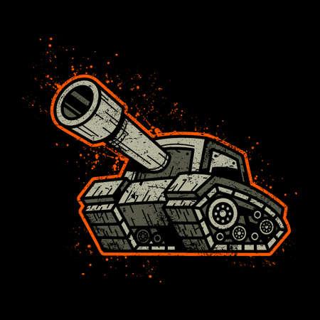 tanque de guerra: El tanque de ej�rcito de la historieta Vectores
