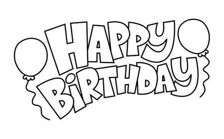 fond de texte: Joyeux anniversaire Ballons Vecteur