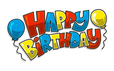 felicitaciones cumpleaÑos: Vector feliz cumpleaños hincha Vectores