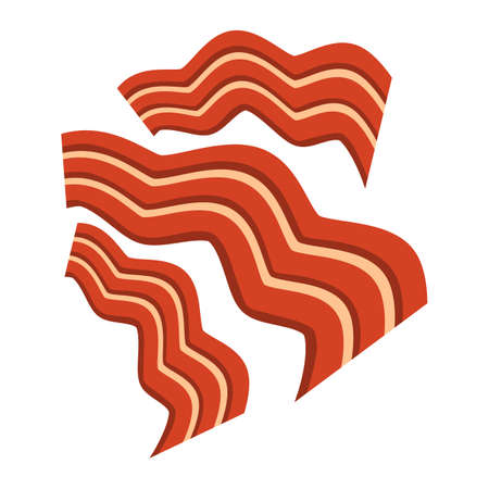 sizzling: Bacon vector