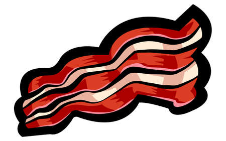 bacon strips: Bacon vector