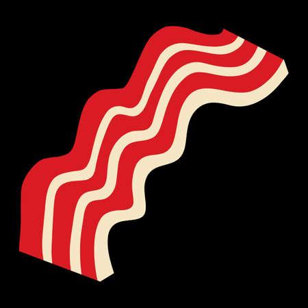 bacon strips: Bacon vector
