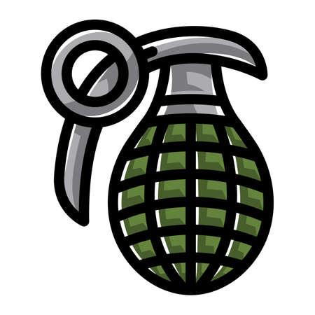 hand grenade: Hand grenade vector illustration Illustration