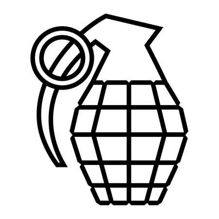 Hand grenade vector illustration Ilustração