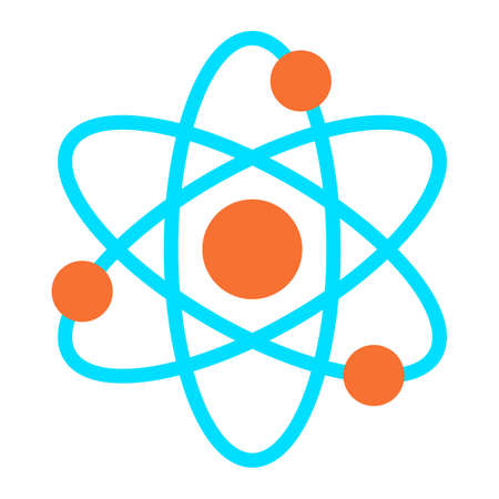 atomic symbol: Atom symbol vector icon