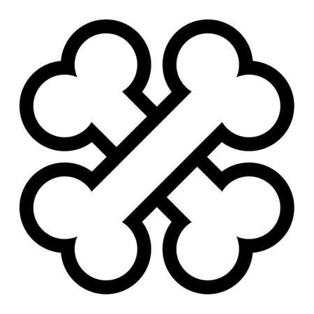 cartoon dog: Bone vector icon