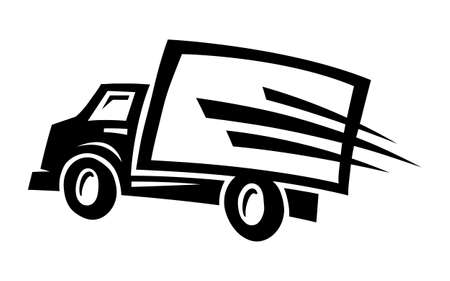 Dostawa Truck Ilustracje wektorowe