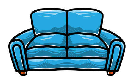 Couch vector icon Illustration