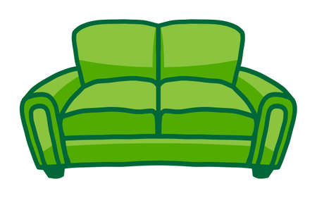 single seat: Couch vector icon Illustration