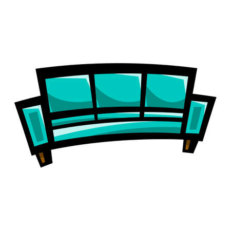 furnish: Couch vector icon Illustration