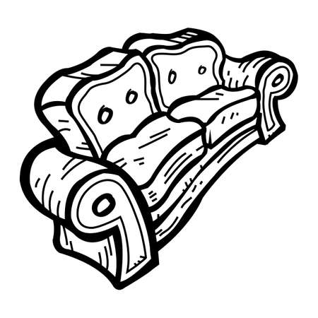 to furnish: Couch vector icon Illustration