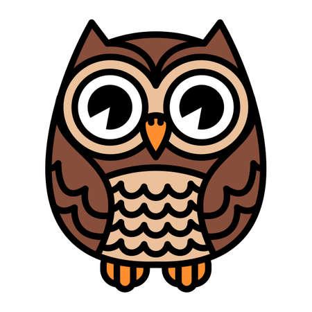 owl illustration: Owl vector cartoon