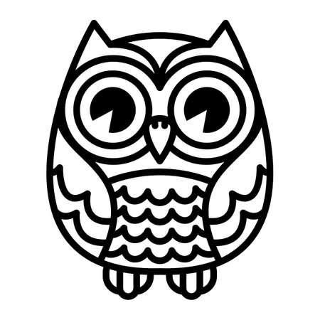 Owl vector cartoon