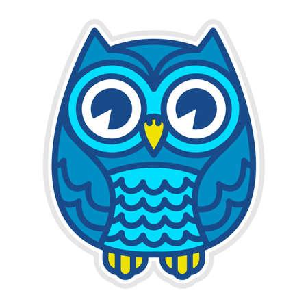 owl eyes: Owl vector cartoon