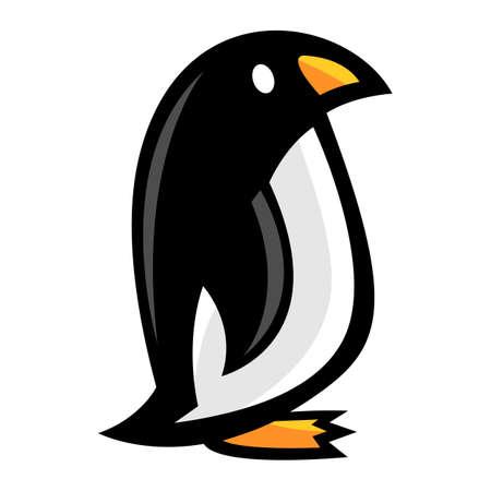 Penguin cartoon vector Illustration