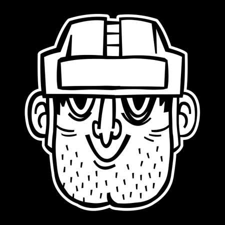 puck: Hockey Player vector illustration