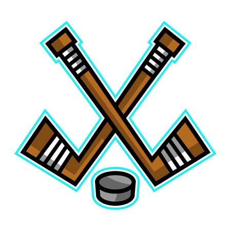puck: Hockey Stick & Puck vector design